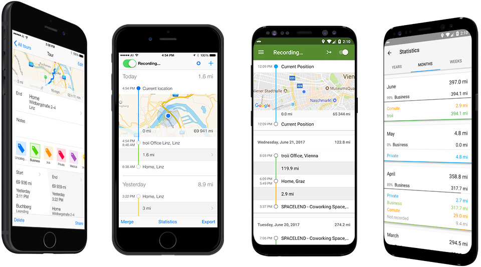 TOUR: The automatic mileage log app for iOS and Android