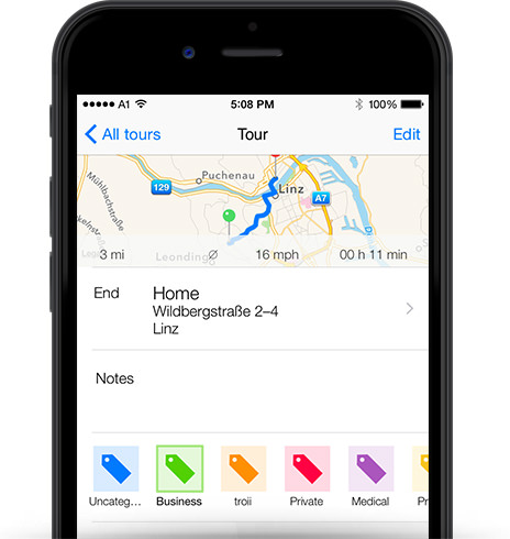 Mileage log App iOS